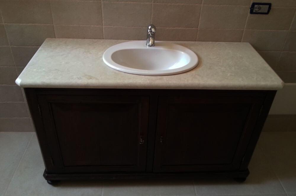 Arredo bagno antico arredo bagno rovere antico lxp cm - Mobile bagno marmo ...